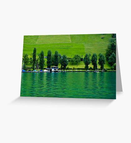 Green Lake Locarno (Swiss)  VRS2 Greeting Card