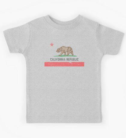 Vintage California Flag Kids Tee