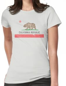 Vintage California Flag Womens Fitted T-Shirt