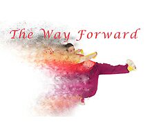 The way forward. Exploding hip-hop dancer  Photographic Print