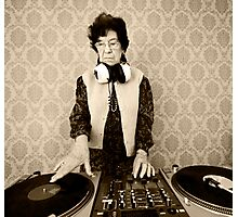 granny DJ! Photographic Print