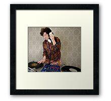 granny DJ! Framed Print