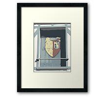 Shuttered Window in Chablis, France Framed Print