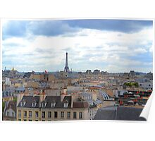 Paris from the Pompidou Centre Poster