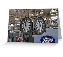 Waterloo Railway Station Clock London SE1 Greeting Card