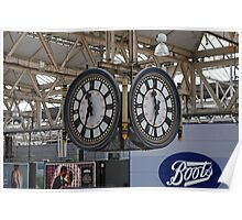 Waterloo Railway Station Clock London SE1 Poster