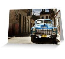 car in havana Greeting Card