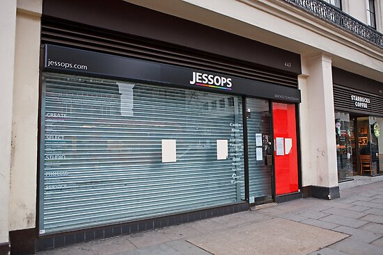 Jessops store now closed down in the Strand London by Keith Larby