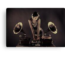 sexy gramophone dj Canvas Print