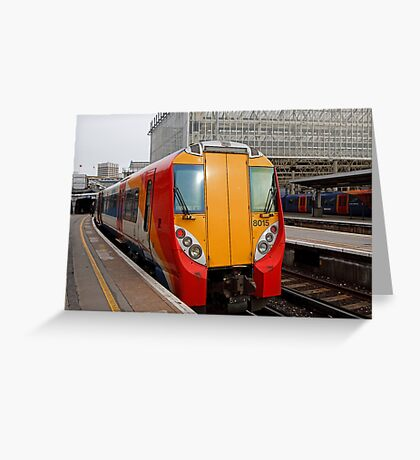 South West Train number 8015 at Waterloo railway station in London Greeting Card