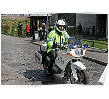 Police Motor Bike, BMW, outside the Tower of London Poster