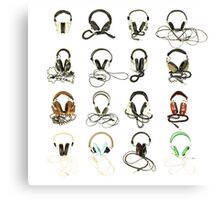 classic retro headphone collection Canvas Print