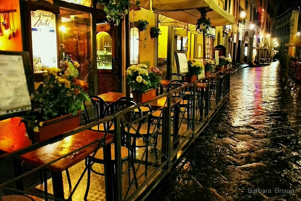 A Cafe in Florence by Barbara  Brown