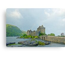 Eilean Donan Castle Textured 2 Metal Print