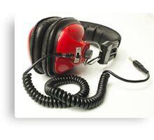 classic retro headphone Canvas Print