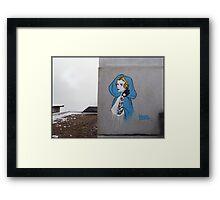 Princess Leia Graffiti Framed Print