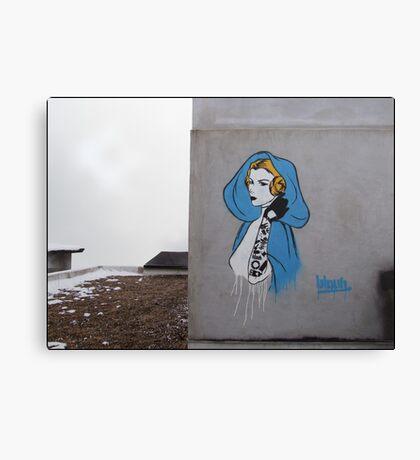 Princess Leia Graffiti Canvas Print