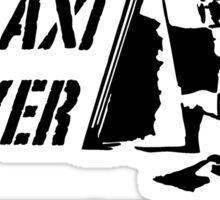 Taxi Driver (black) Sticker