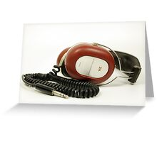 classic retro headphone Greeting Card