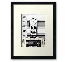 """Manuel """"Manny"""" Calavera - Jailed Framed Print"""