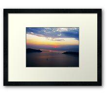 Sunset in Santorini Bay (Greece)  VRS2 Framed Print