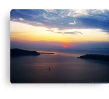 Sunset in Santorini Bay (Greece)  VRS2 Canvas Print