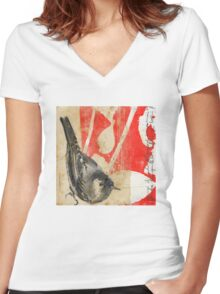 Waiting For The Red Women's Fitted V-Neck T-Shirt