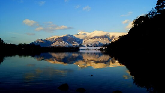 Derwent Water and Skiddaw, Lake District National Park by Lou Wilson