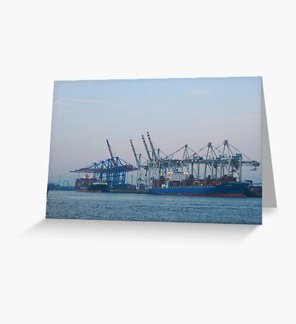 Hamburg Container Harbor (Germany) VRS2 Greeting Card