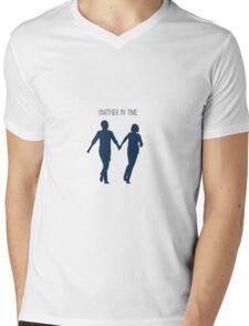 Partner In Time Mens V-Neck T-Shirt