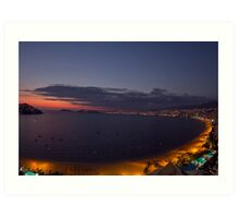 Acapulco bay Mexico Art Print