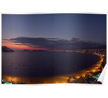 Acapulco bay Mexico Poster