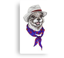 The Happy Otter Canvas Print