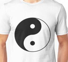 90's Grunge Hippie Peace Black and White Ying Yang Symbol Unisex T-Shirt