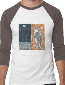 Wings on Blue Men's Baseball ¾ T-Shirt