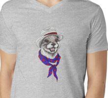 The Happy Otter Mens V-Neck T-Shirt