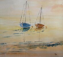 Saily boats by Saffiere Baker