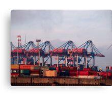 Hamburg Container Harbor (Germany) VRS2 Canvas Print