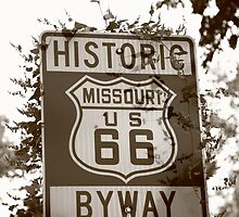 Route 66 Shield in Missouri by Frank Romeo