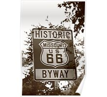 Route 66 Shield in Missouri Poster