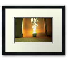 Who needs Yankee candles... Framed Print