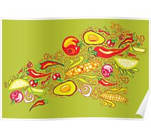 Vegetables Pattern Poster