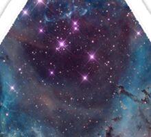 90'S Grunge Nebula Galaxy Space Triangle Pattern  Sticker