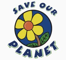 "Earth Day ""Save Our Planet"" One Piece - Short Sleeve"