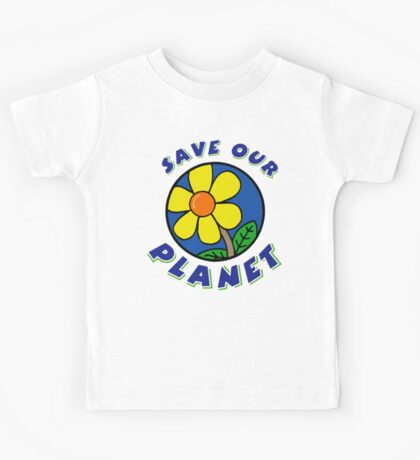 "Earth Day ""Save Our Planet"" Kids Tee"
