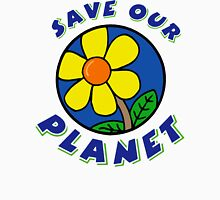 "Earth Day ""Save Our Planet"" Womens Fitted T-Shirt"
