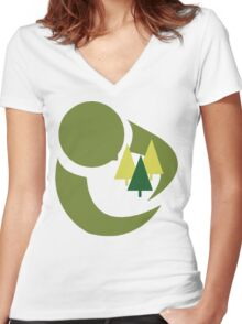 """Earth Day """"Save The Trees"""" Women's Fitted V-Neck T-Shirt"""