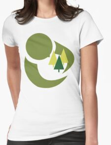 """Earth Day """"Save The Trees"""" Womens Fitted T-Shirt"""