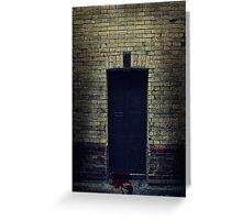 Bloody Door Greeting Card