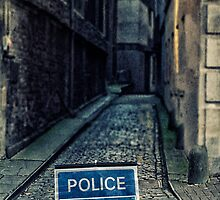 Police road closed by Sharonroseart